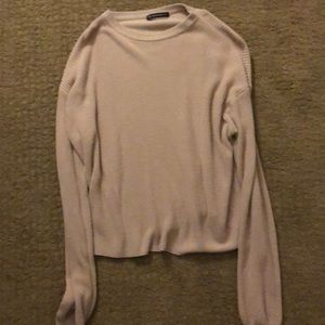 Light pink sweater from Brandy Melville